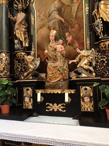 Detail of side altar, St. Barbara's Cathedral