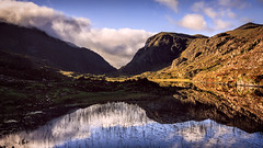 Gap of Dunloe (artjom83) Tags: ireland sky mountain lake reflection nature water clouds sunrise landscape europe cloudy roadtrip kerry clear wideangel canon1022 canon40d