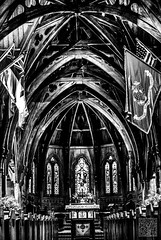 Old St. Paul's (atogdude) Tags: blackandwhite bw building church architecture cathedral interior stpaul olympus zuiko