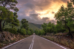 On the road again (Vagelis Pikoulas) Tags: blue autumn trees light sunset sky sun mountain mountains west colour tree green rock clouds canon landscape eos kiss rocks europe niceshot view greece western 1855mm x4 2012 attiki vilia germeno 550d abigfave colorphotoaward mygearandme kithairwnas mygearandmepremium mygearandmebronze ringexcellence dblringexcellence tplringexcellence musictomyeyeslevel1 eltringexcellence