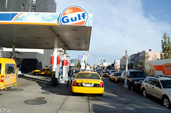 Post Hurricane Sandy Traffic (canihazit) Tags: nyc newyork buses brooklyn train subway nikon traffic sandy hurricane gas gasstation queens mta gridlock nogas cpbb d5100 hurricanesandy