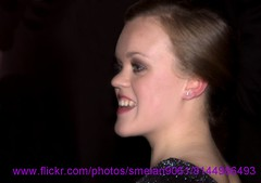 Ellie Simmonds (iron_smyth48) Tags: red portrait woman white celebrity english film smile face television female hair carpet star glamour eyes dress event swimmer earrings premiere celeb londonolympics
