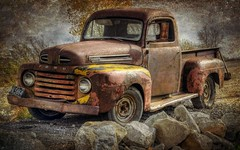 Henry F-1 (TicKavich) Tags: ford pickup textures hdr photomix