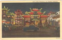 LA Chinatown Neon At Night, Vintage Post Card (MindsiMedia 2012) Tags: vintage la losangeles neon post card vintagepostcard lachinatown chintown neonpostcard