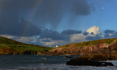 Rainbow over Dingle (Barbara Walsh Photography) Tags: trip travel ireland sea irish lighthouse seascape wall clouds swimming walking poster rainbow holidays view ngc relaxing peaceful visit kerry hills canvas postcards prints hanging grren claming barbarawalshphotography