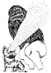 Boom! Rang! Dessins  4 mains (Boom ! Rang!) Tags: illustration skull weird drawings freaky boom dessin nb monsters creatures calaveras bizarre rang monstres