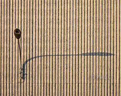 Shadow and stripes (Paco CT) Tags: shadow texture textura rayas wall pared construction farola streetlamp background stripes sombra explore construccion cern simple fondo franjas 2013 pacoct