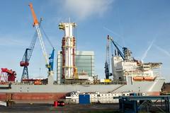 Noble Globetrotter II Drillship (AperturePaul) Tags: netherlands nikon ship 24mm schiedam d600 southholland drillship wiltonhaven nobleglobetrotter
