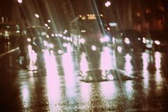 Rainy Night (Génial N) Tags: ny newyork car night pentax manhattan citylights nightlight nycity pentaxk01