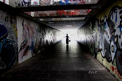 Trier, Germany (Mairead D) Tags: street travel light summer streetart germany underpass subway deutschland photography graffiti europe european german allemagne trier deutsch graffitiart allemand lighs