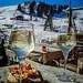 Dolomites lifestyle skiing