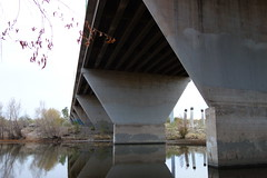 Central Avenue Bridge, Rio Salado, Phoenix (kevin dooley) Tags: bridge arizona water phoenix rio river pond sony central salt az waste avenue saltriver riosalado phx salado centralavenue catchment valleyofthesun rx100
