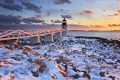 Winter's Light (katie47n) Tags: winter sunset snow cold maine february portclyde canon1022 lee09gnd marshallpointlighthouse mainephotography canon7d mainelandscapephotography snowylighthouse katherinegendreauphotography