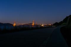 Golden Gate Bridge at Night from the Land's End Trail (eekim) Tags: sanfrancisco california longexposure night us unitedstates goldengatebridge landsend richmonddistrict outerrichmond