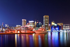 Baltimore Skyline (Monish.Majumdar) Tags: baltimorephotographer baltimore harbor water front downtown night canon 24105 photography maryland 6d fullframe federal hill skyline landscape reflection boat lens transamerica charmcity charm city urban skyscrapers