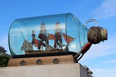 Giant Ship in a Bottle - Greenwich (big_jeff_leo) Tags: wood sea london statue museum bottle ship painted greenwich navy maritime bow figurehead