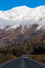 Rush Hour South Island Style (Lathkill96) Tags: 2ndaugust2016 copyrightrichardjoseph newzealand southisland malaghansroad arrowtowntoqueenstown godsown rushhour southislandrushhour snow snowcoveredmountains mountains nearqueenstown
