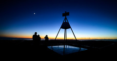 Trigonometry (ajecaldwell11) Tags: sunrise water trig hawkesbay newzealand tematapark ankh tematapeak dawn napier sky moon clive caldwell clouds light