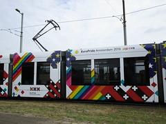 GVBA tram 2098 EuroPride tram (Arthur-A) Tags: gvb gvba amsterdam diemen nederland netherlands tram tramway strassenbahn streetcar electrico tranvia tramvia gaytram europride gaypride