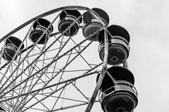 Wooden Ferris Wheel, MN State Fair 2016 (pete lok) Tags: black white ferris wheel wood minnesota state fair minneapolis