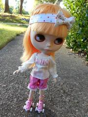 Summer loves her new skates