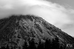 Black Butte (sleepnever) Tags: blackbutte butte mountain lavadome dome clouds morning rock trees siskyoucounty siskyou interstate5 blackwhite bw california norcal canon 100400ii robertwatts