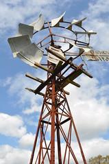 8 foot Intercolonial Boring Company Simplex windmill, direct acting open crank (sarracenia.flava) Tags: ibc intercolonial boring company simplex direct acting open crank windmill darlingdowns queensland australia