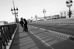Bordeaux Kiss (PM Kelly) Tags: street kiss romantic romance france bridge bordeaux pont pierre bnw blackandwhite bw blackwhite