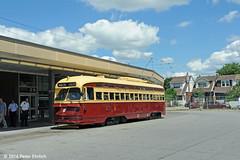 TORONTO--500 at Main Station (milantram) Tags: electricrailtransport railsystemstoronto toronto ttc pccs streetcars trolleys trams torontostreetcars