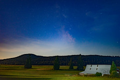 Some nights are better then others... (cdnfish) Tags: milkyway millbay cobblehill cowichanvalley sony sonya7m2 stars sky star barn green grass tree trees exploring explore esquimalt a7m2 clouds