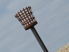 3330 Beacon fire basket (Andy panomaniacanonymous) Tags: 20160814 basket bbb beach beacon fff firebasket greatstone kent littlestoneonsea metal mmm