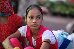 Haridwar..... Candid Portraits (pallab seth) Tags: candid people india indian haridwar hardwar religion hindu hinduism samsungnx85mmf14edssalens samsungnx1 woman pilgrim pilgrimage harkipauri girl kid bathing