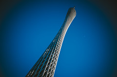 Canton Tower_1 (hans-johnson) Tags: tower architecture skyscraper sky blue white kwongchow guangzhou canton cantontower guangdong china chine ricoh gr ricohgr apsc 28mm vsco auzi metropolitan metropolits urban city azul moon lomo prime shot