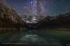 The Milky Way over Lake Louise #2 (Amazing Sky Photography) Tags: altair banffnationalpark lakelouise milkyway victoriaglacier continentaldivide darksky lightpollution nightsky reflection stars