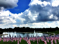Flags of Valor project  @STLArtMuseum 2 ~ #FlagsOfValor #stlouisartmuseum #arthill #clouds #ForestPark (Ben Moeller-Gaa) Tags: forestpark flagsofvalor stlouisartmuseum arthill clouds