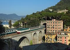 E.444 011, Zoagli,  26 July 2016 (Mr Joseph Bloggs) Tags: railroad railway fs e444011 e444 011 bahn livorno centrale milano milan zoagli genoa genova trenitalia