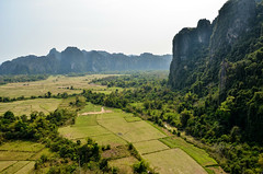 DSC_6404 (seanatron123) Tags: laos asia nikond5100 vangvieng viewpoint karst mountains fields trees phapoak