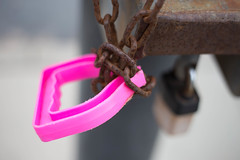 Get a handle on it (cathbooton) Tags: canon6d canonusers canoneos contrast depthoffield padlock chain handle spade pink