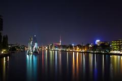 Spreeblick (el.manuelito) Tags: berlin abend sonnenuntergang nacht hauptstadt dunkel metropole langzeitbelichtung
