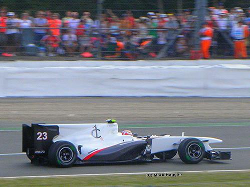 Kamui Kobayashi in his Sauber at the 2010 British Grand Prix