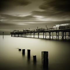 Splenetic sepia (MartynHall ) Tags: sepia square pier big long exposure south devon filter crop stopper groynes teignmouth splenetic