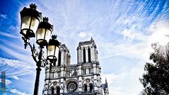 Holiday in Paris - Notre dame (Capitasaro) Tags: holiday paris am cielo sole notre dame albero viaggio vacanza lampione parigi rosone vatrata
