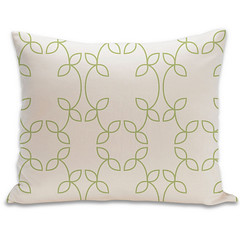 Vine Organic Pillow in Lime and Natural 15x18 (PURE Inspired Design) Tags: customfurniture organicfabric ecofriendlyfurniture woolrugs