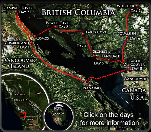 BC Bike Race 2012 Map