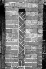 Decorative brick panel detail (Jon-UK) Tags: windows bw white black brick church details adoremus adorer adorar  adhradh addoliad