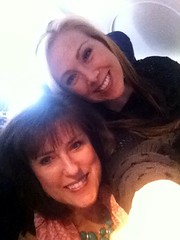 Airplane fun! Sharon Jaynes and I are on our way to the Girlfriends in God conference in Ottawa, Canada!