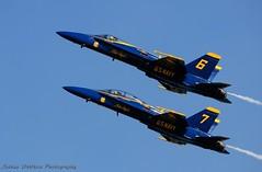 (Joshua V.) Tags: ocean blue sea sky beach airplane fighter florida fat albert jet super airshow angels jacksonville fl hornet f18 hercules peir c130 fa18
