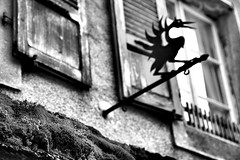 eerie (mamuangsuk) Tags: moss crane eerie spooky fribourg gruyeres chateau lychen grue bwphotography volets mousse giger peculiar prealpes medievaltown villagemedieval mamuangsuk villagetouristique