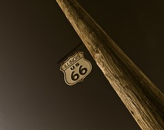 Illinois US 66 (Ken Yuel Photography) Tags: illinois route66 roadtrip 66 nostalgia roadsign motherroad earlymorninglight woodenpoles route66sign digitalagent metalstreetsigns kenyuel illinoisus66 jimthiessen