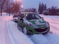 First real snow of the year (dave_7) Tags: 2 snow mazda mazda2